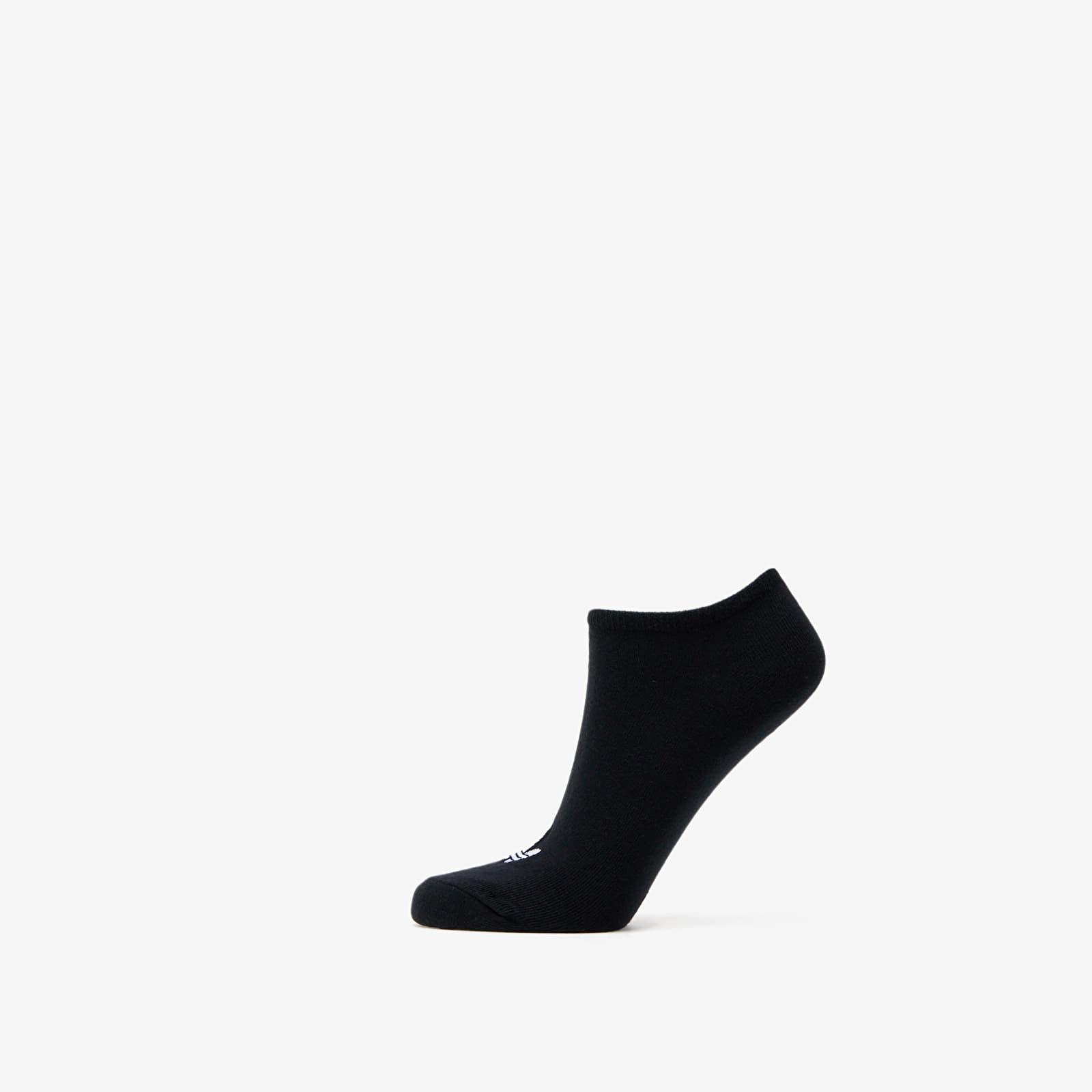 adidas Trefoil Liner Socks 3 Pairs Black EUR 39-42