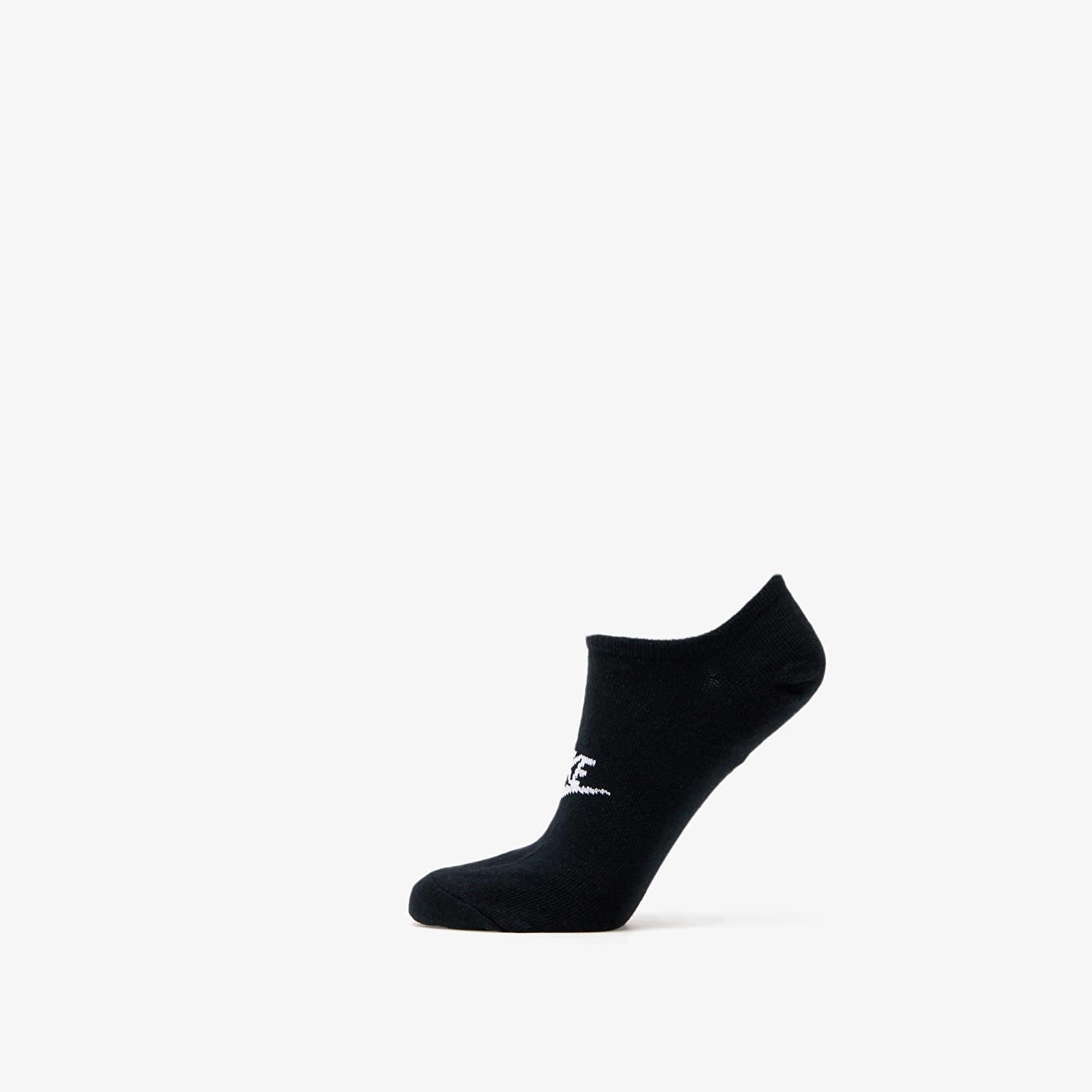 Nike Sportswear Everyday Essential No Show Socks (3-Pack) Black/ White S
