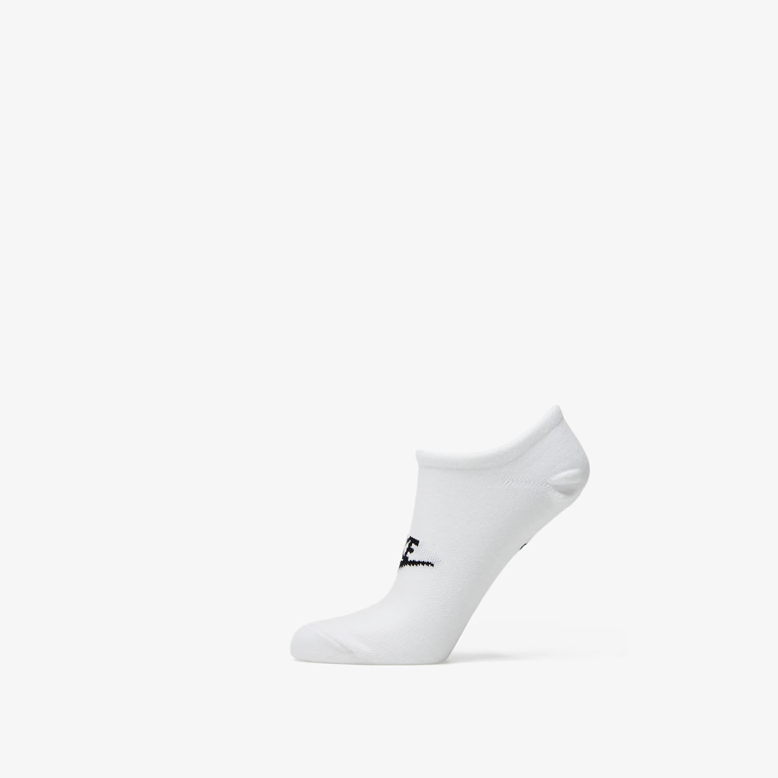 Nike Sportswear Everyday Essential No Show Socks (3-Pack) White/ Black S