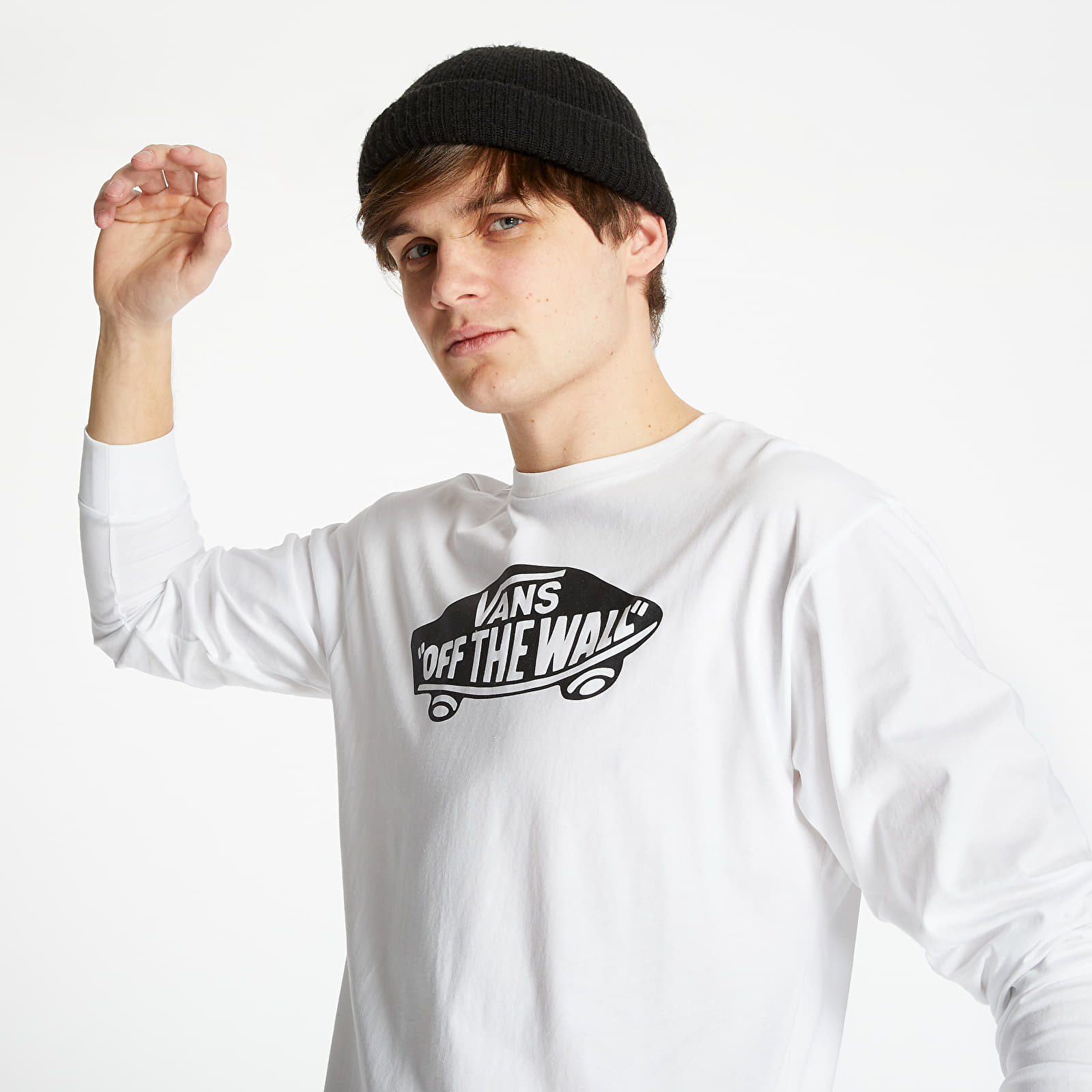 T-Shirts and shirts Vans T-Shirt OTW Long Sleeve White/ Black