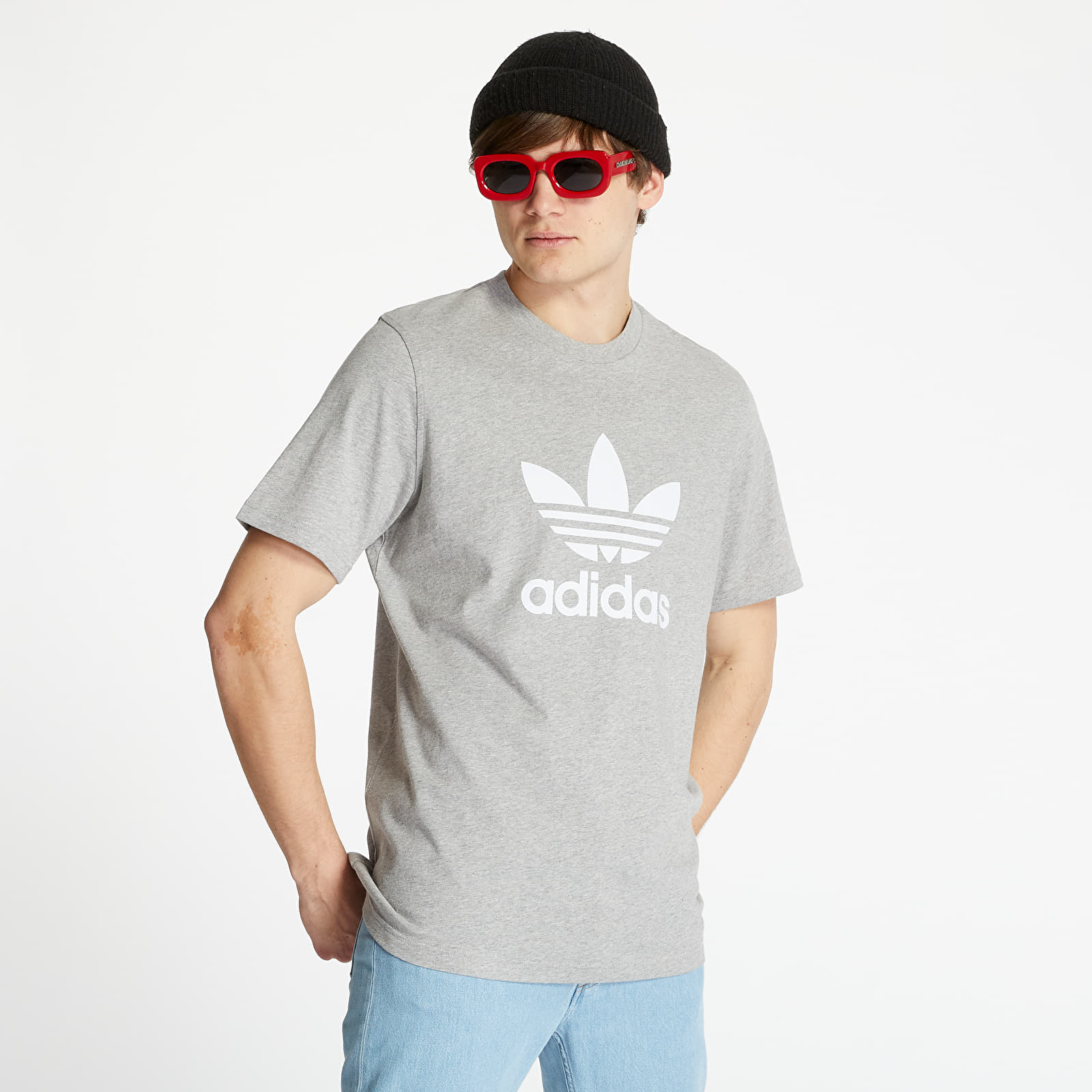 Тениски adidas Trefoil Tee Medium Grey Heather