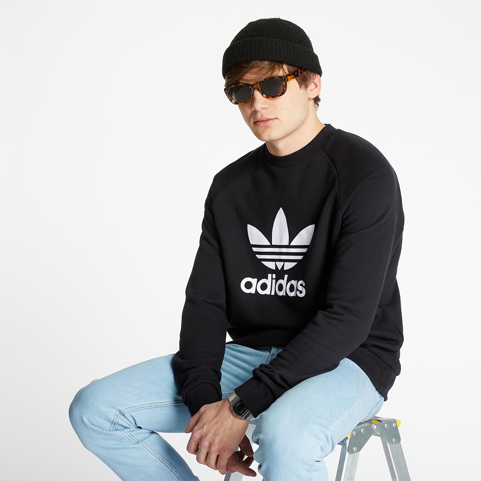 Суичъри и пуловери adidas Originals Trefoil Crewneck Black