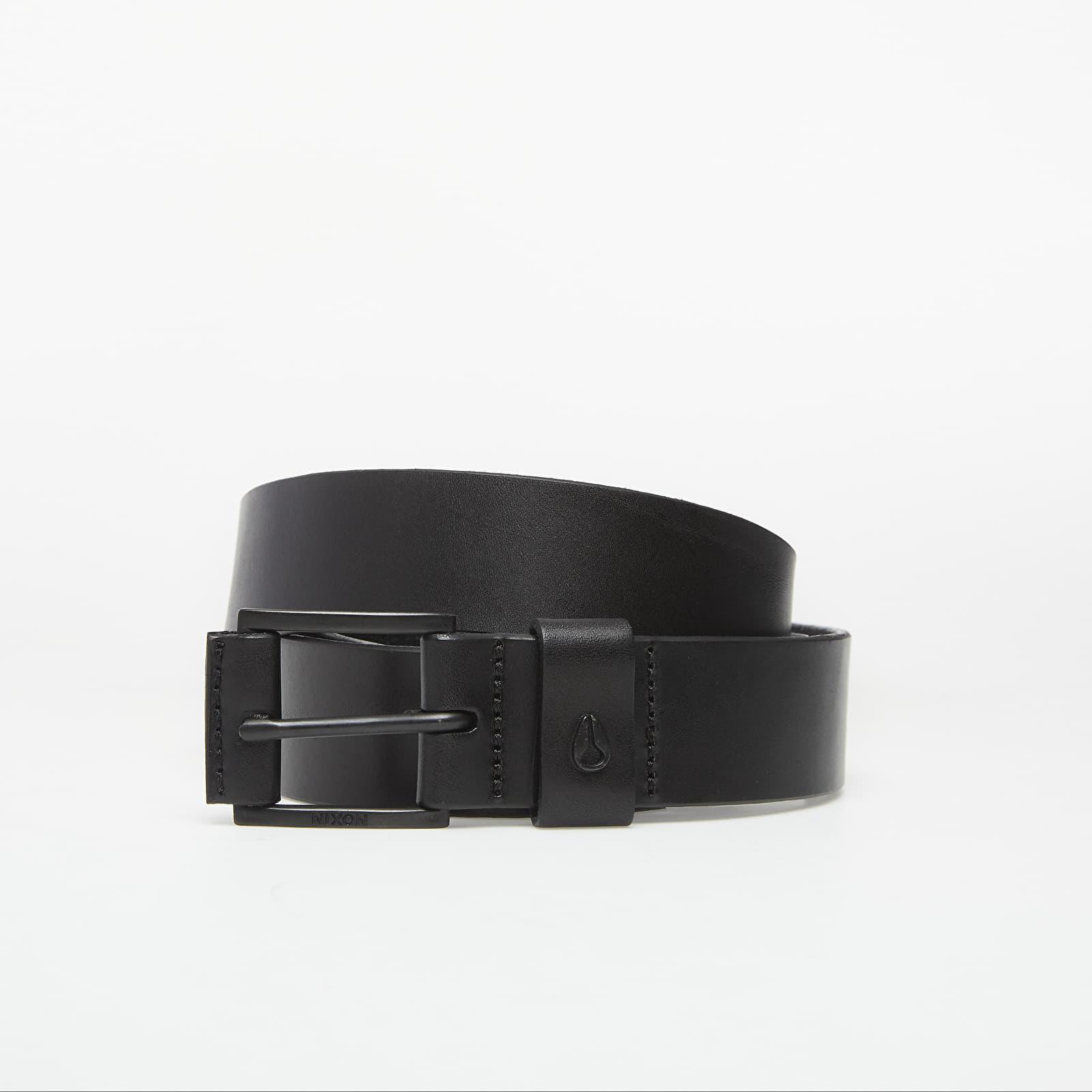 Gürtel Nixon Americana Leather Belt Black