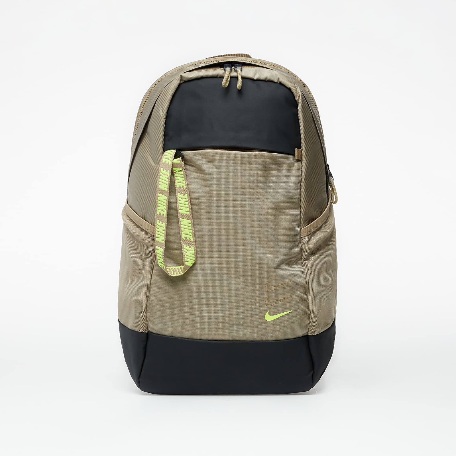 Mochilas Nike Sportswear Essentials Backpack Khaki/ Dark Smoke Grey/ Lemon Venom