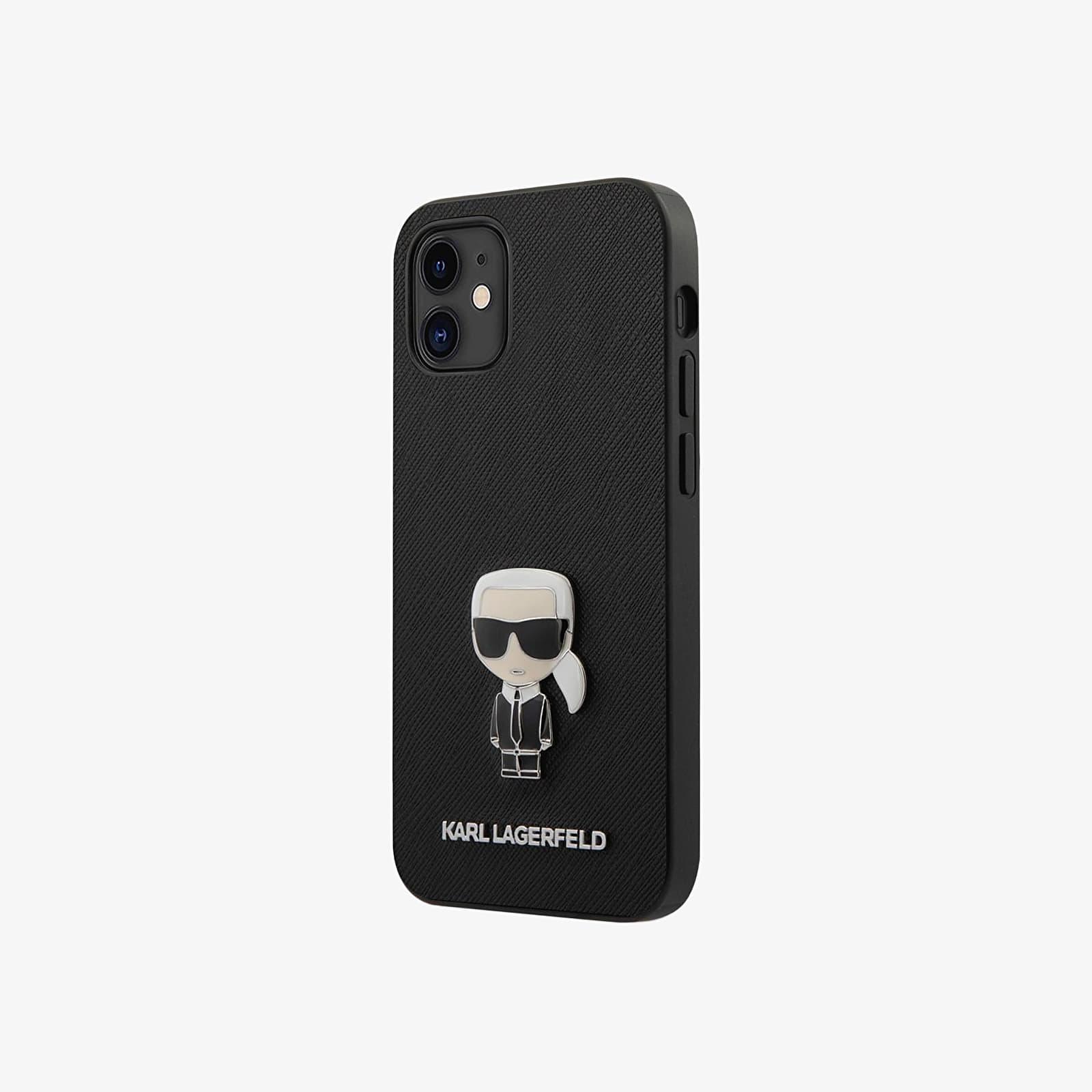 "Karl Lagerfeld Saffiano Iconic iPhone 12 Cover mini 5.4"" Black Universal"