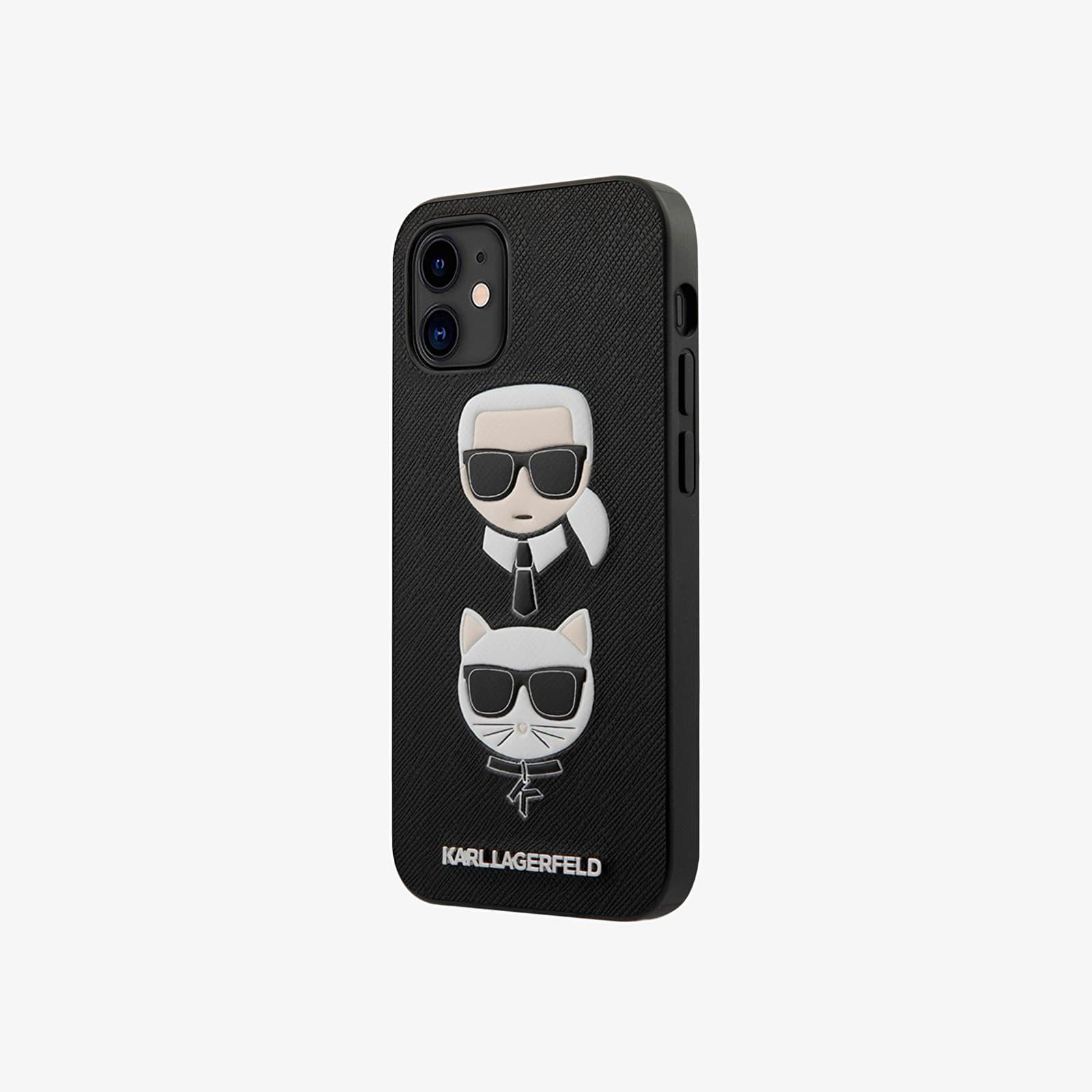 "Karl Lagerfeld Saffiano K&C Heads Cover iPhone 12 mini 5.4"" Black Universal"
