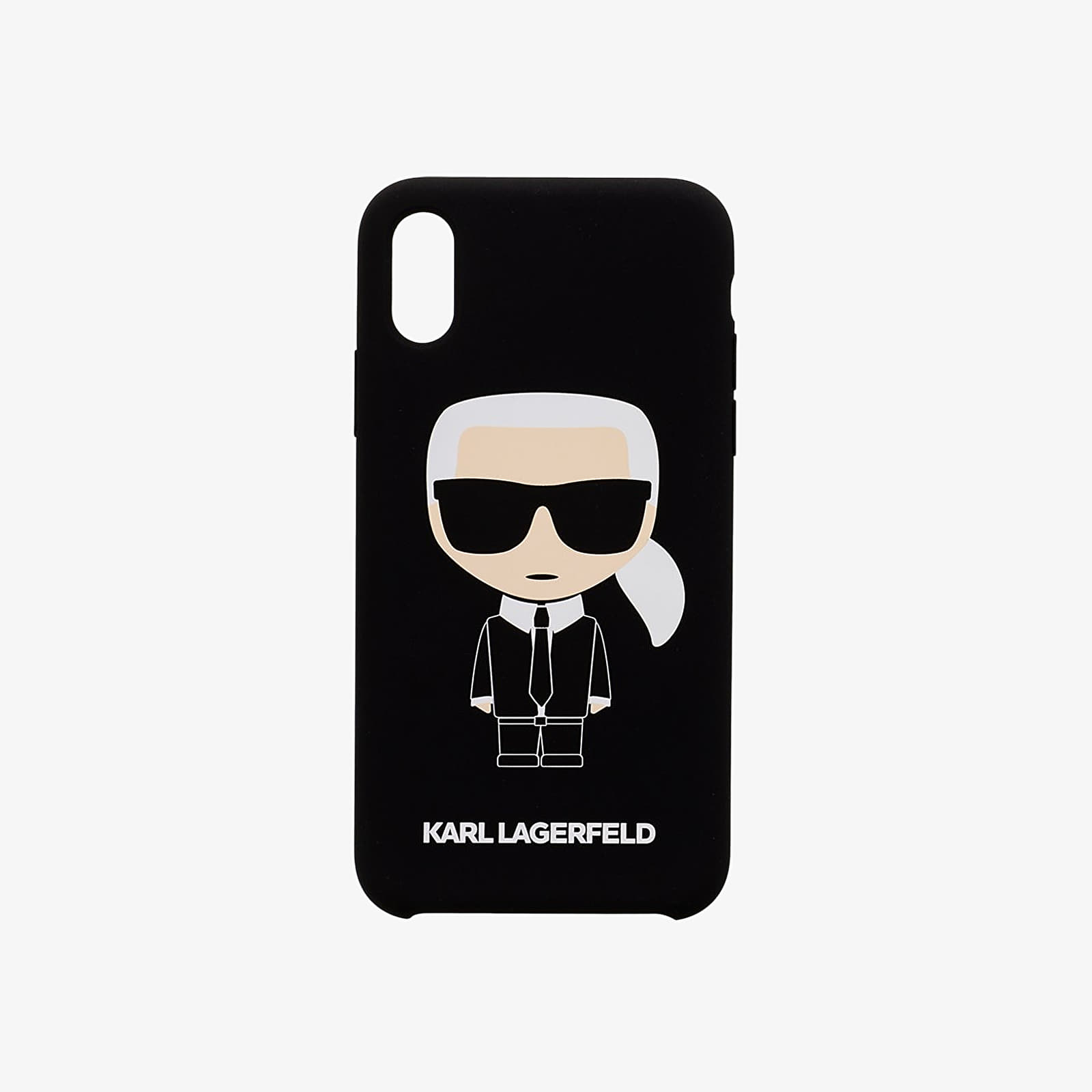 Doplňky Karl Lagerfeld Full Body Iconic Silicone Cover iPhone X/XS Black