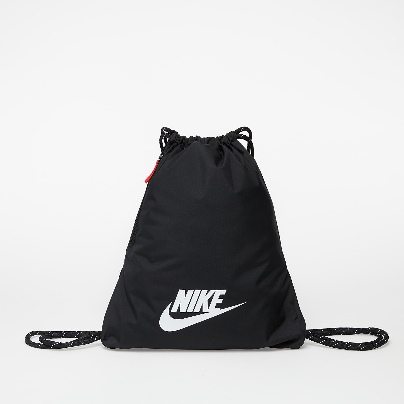 Vaky na záda / Gymsacks Nike Heritage Gymsack Black/ Black/ White