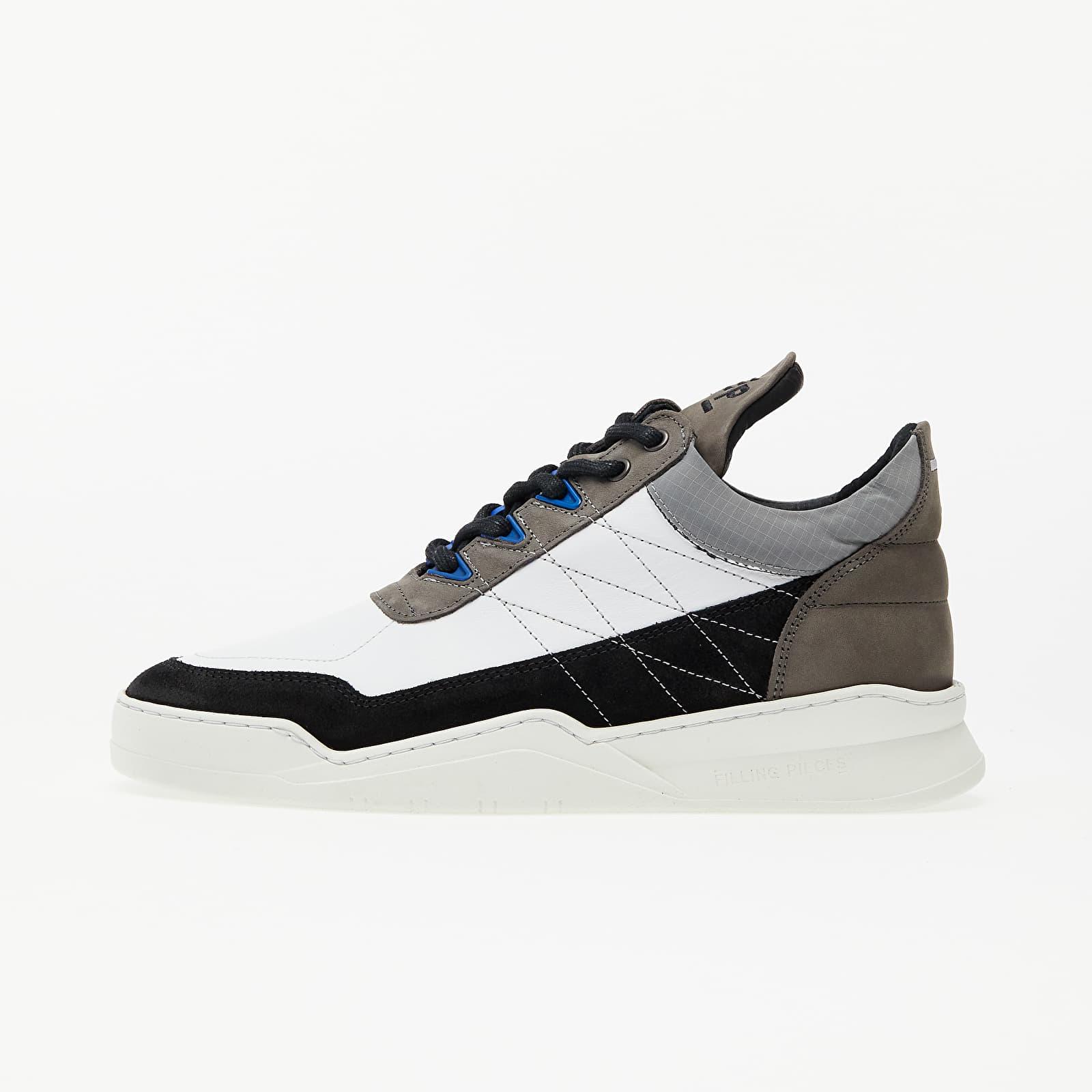 Încălțăminte și sneakerși pentru bărbați Filling Pieces Low Top Ghost Tweek Black/ White