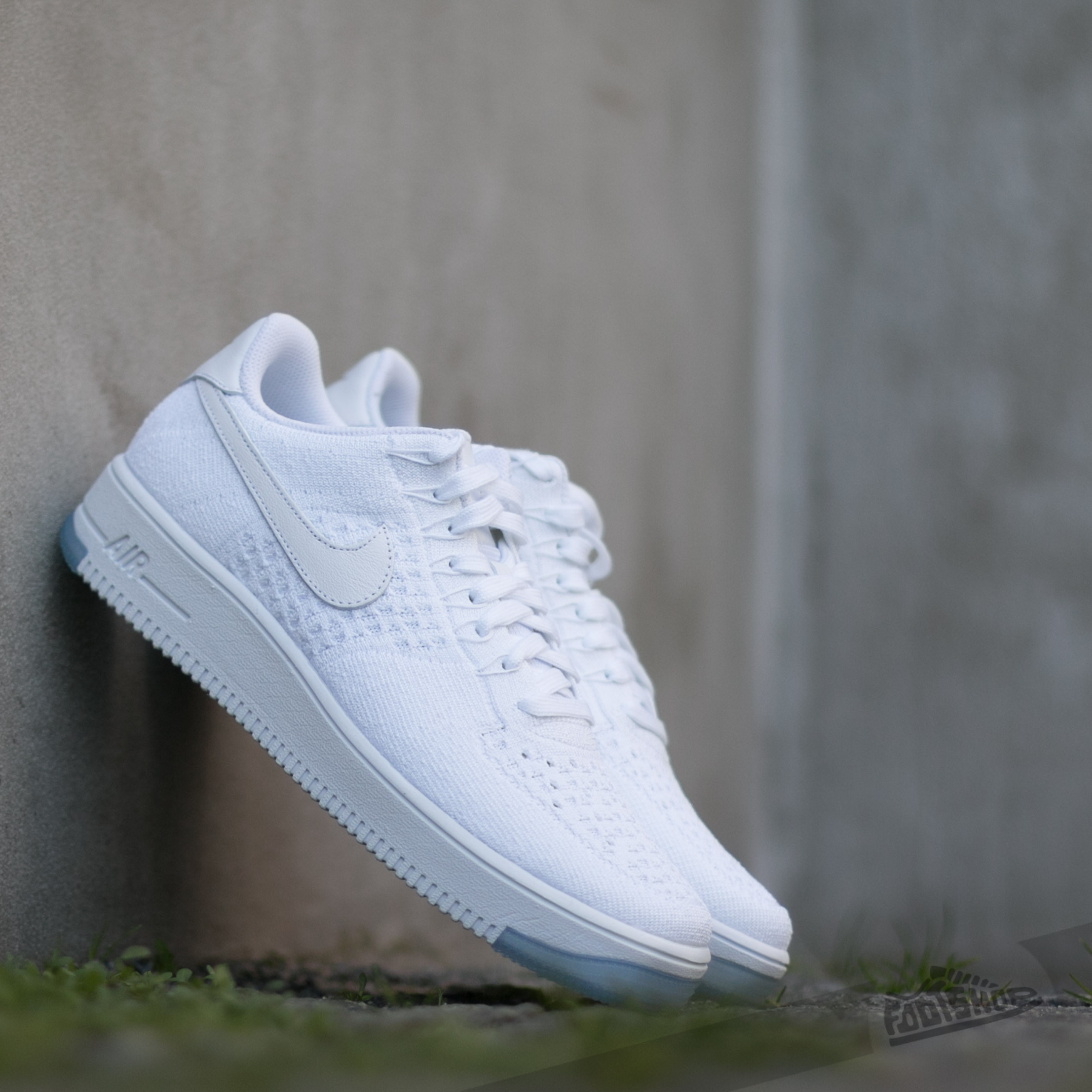 Nike Air Force 1 Ultra Flyknit Low White White Ice | Footshop
