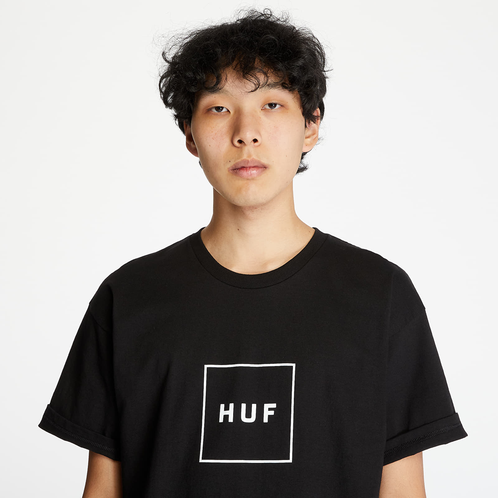 T-shirts HUF Essentials Box Logo Shortsleeve Tee Black