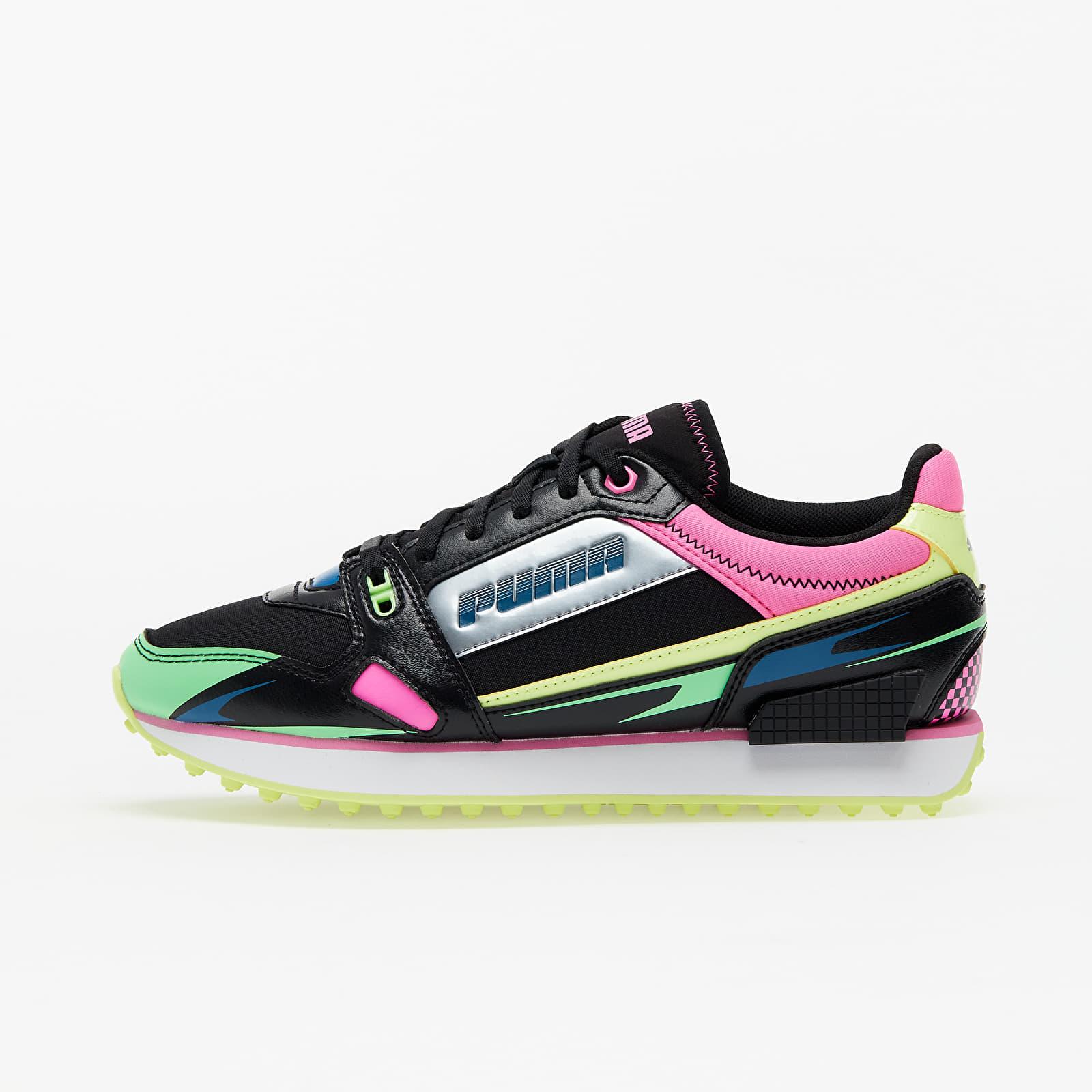 Dámske topánky a tenisky Puma Mile Rider Sunny Gataway Wns Puma Black-Elektro Green