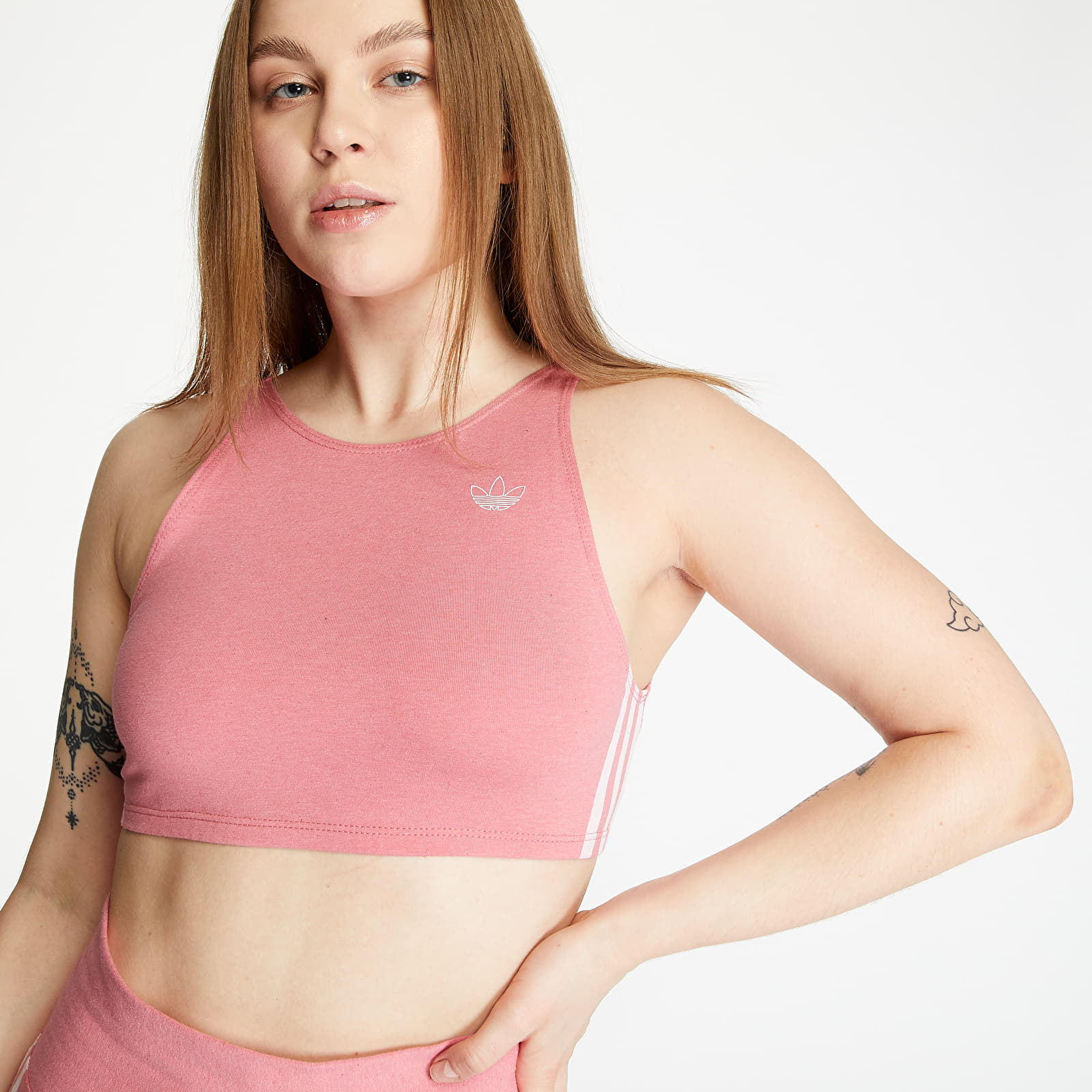 Soutien-gorge adidas Fakten Bra Top Hazy Rose Mel/ White