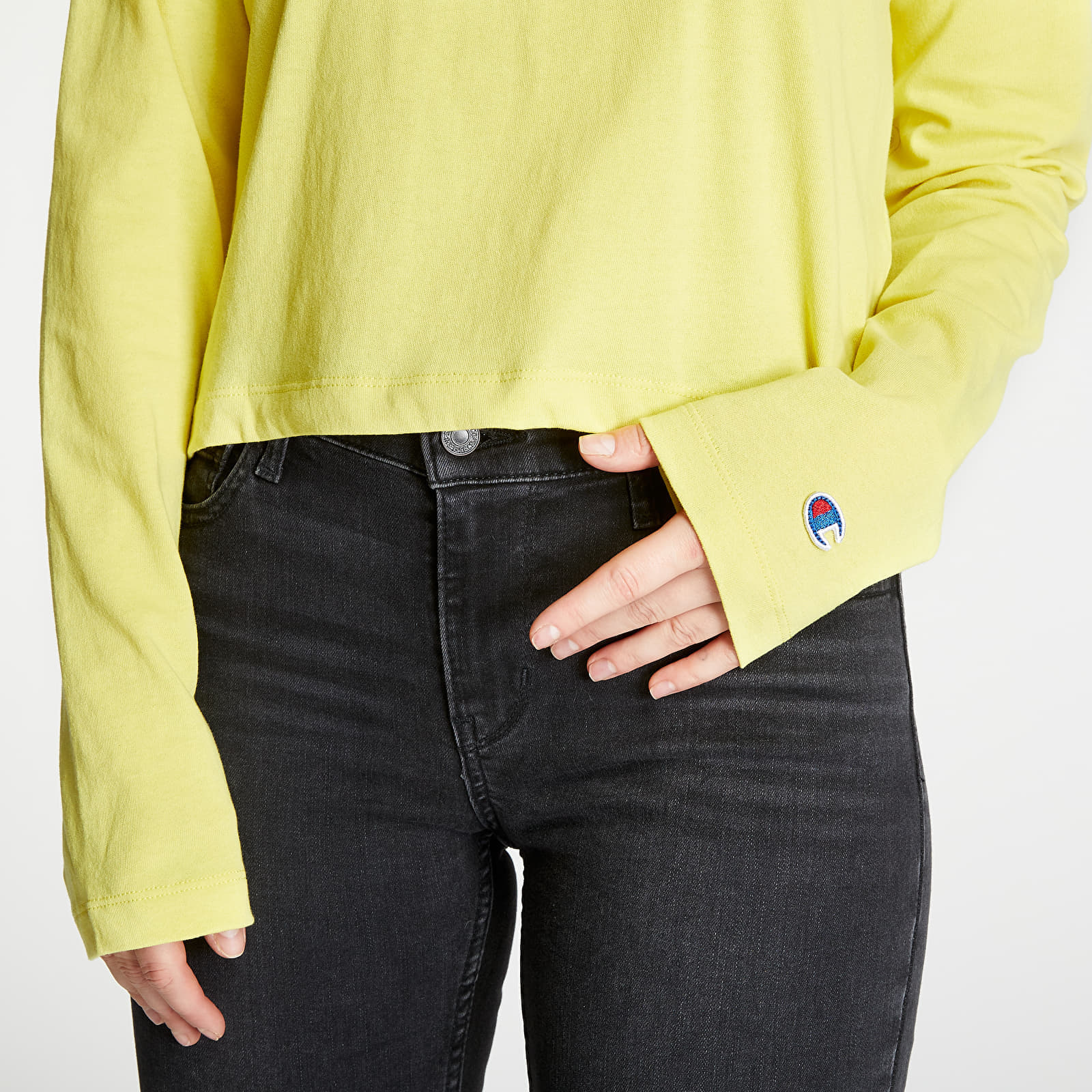 T-shirts Champion Cropped Tee Yellow