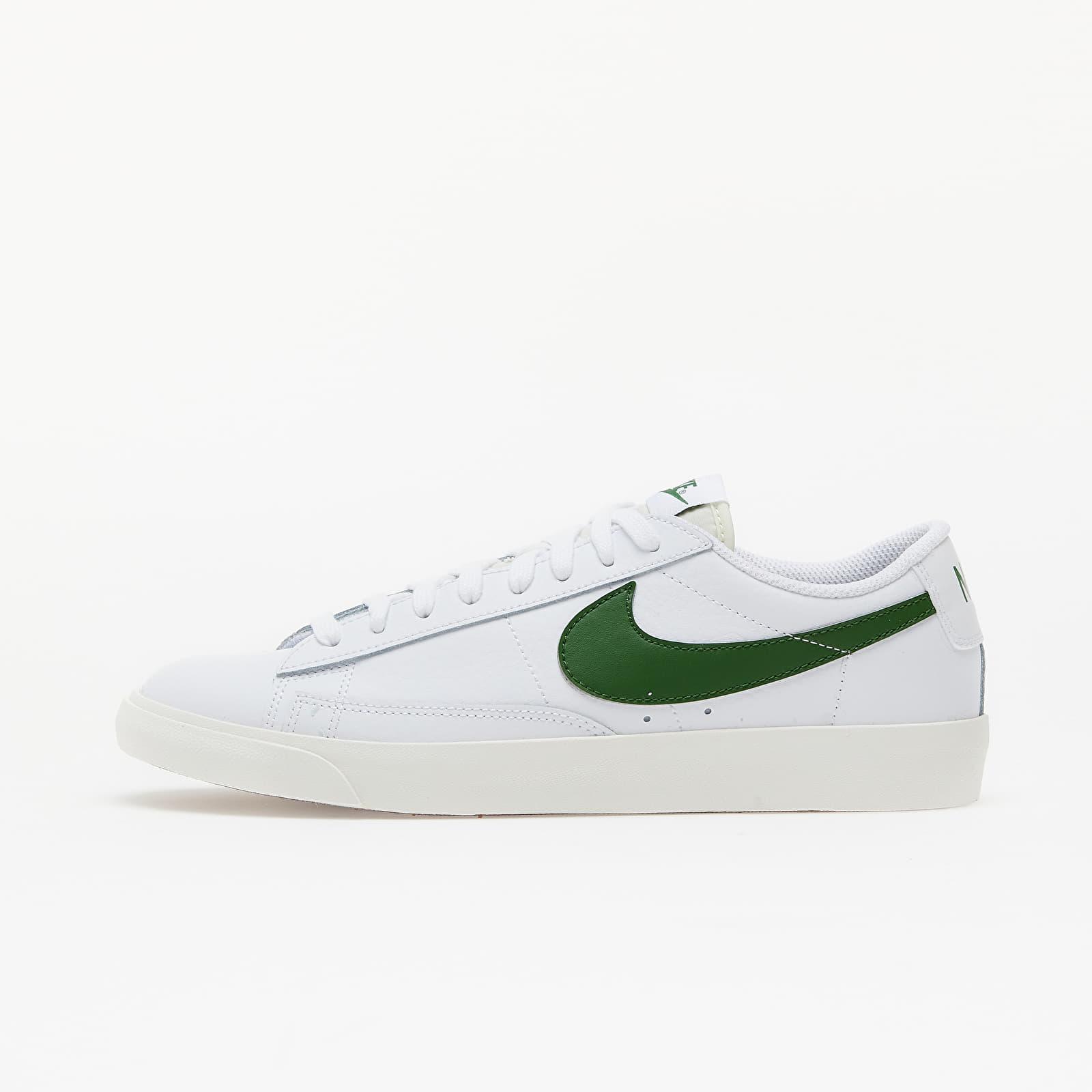 Herren Sneaker und Schuhe Nike Blazer Low Leather White/ Forest Green-Sail