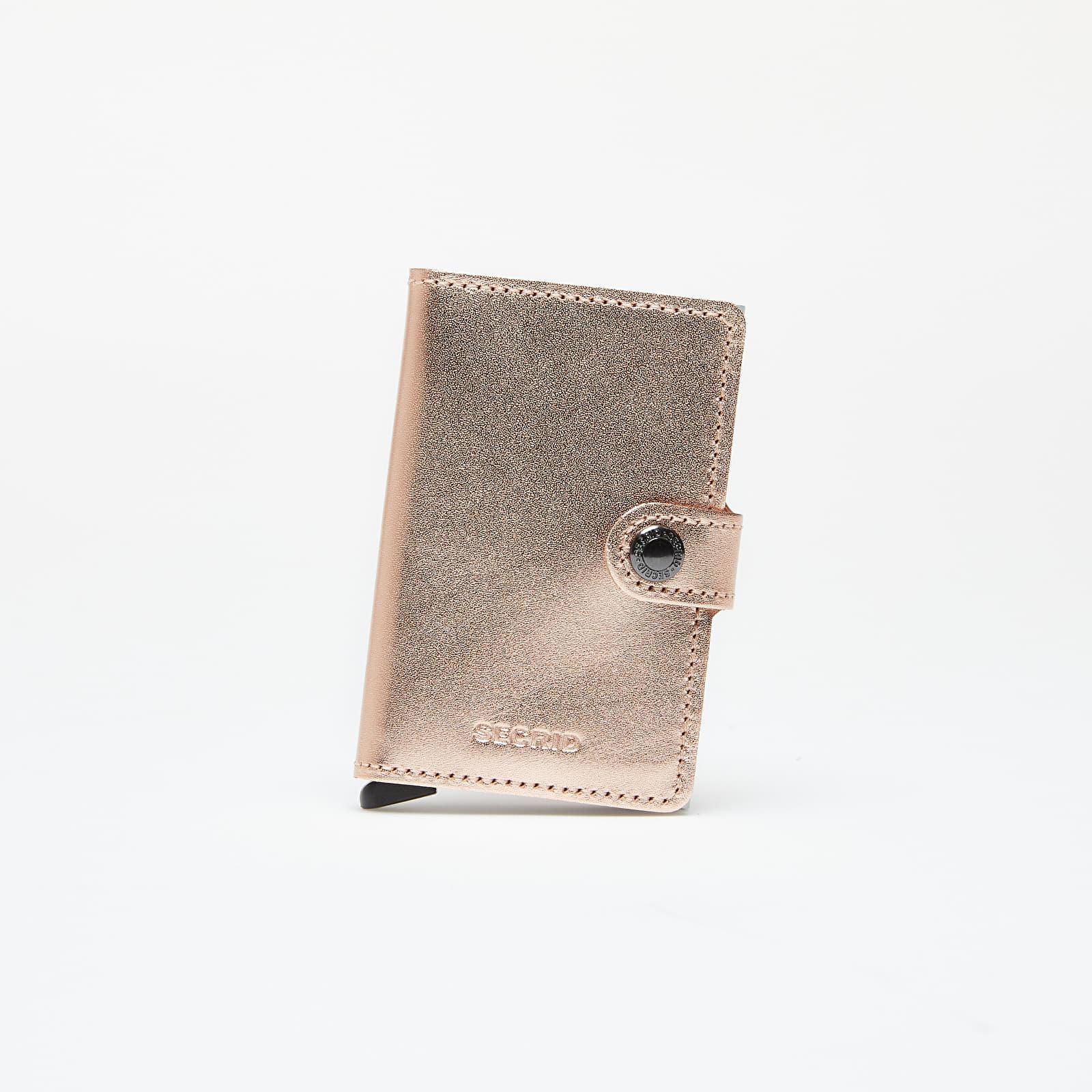 Peňaženky Secrid Miniwallet Metallic Rose