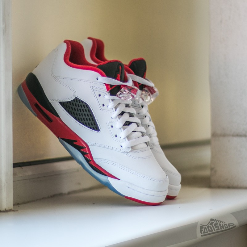 e674341ca0f0 Air Jordan 5 Retro Low (GS) White  Fire Red-Black