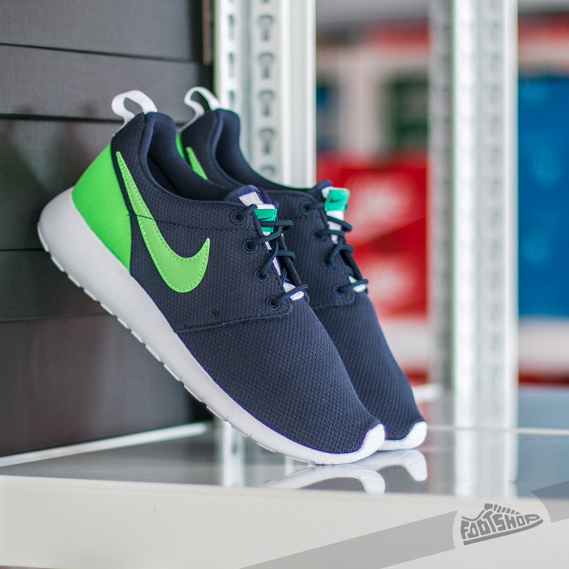 04faff67ee04e Nike Roshe One (GS) Obsidian  Voltage Green-Lucid Green-White ...