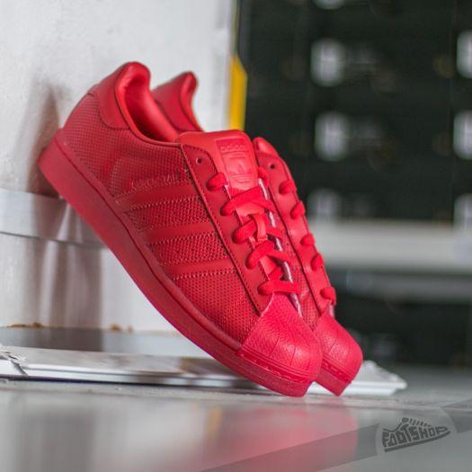 adidas superstar scarlet red
