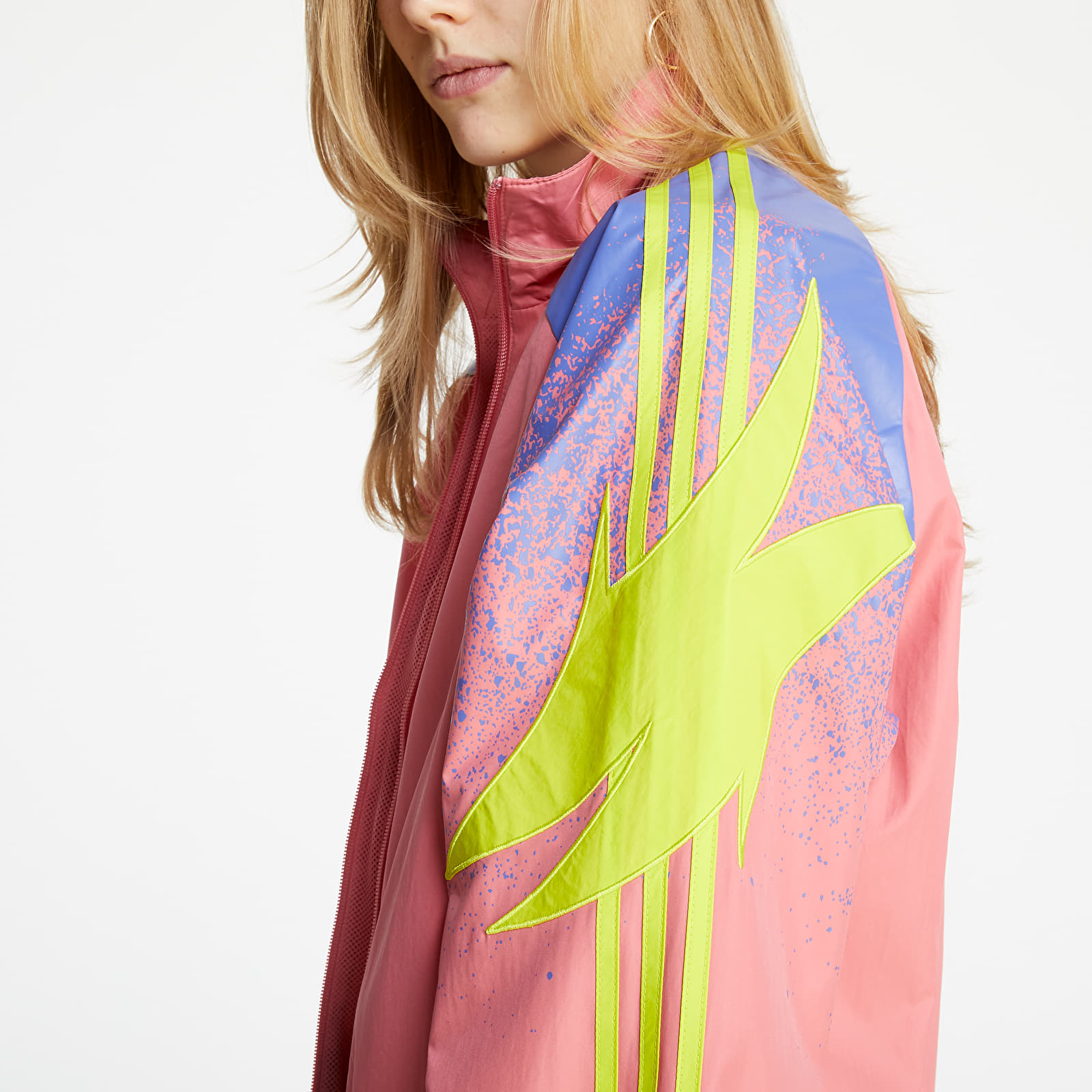adidas Fakten Track Top Hazy Rose/ Acid Yellow/ Joy Purple