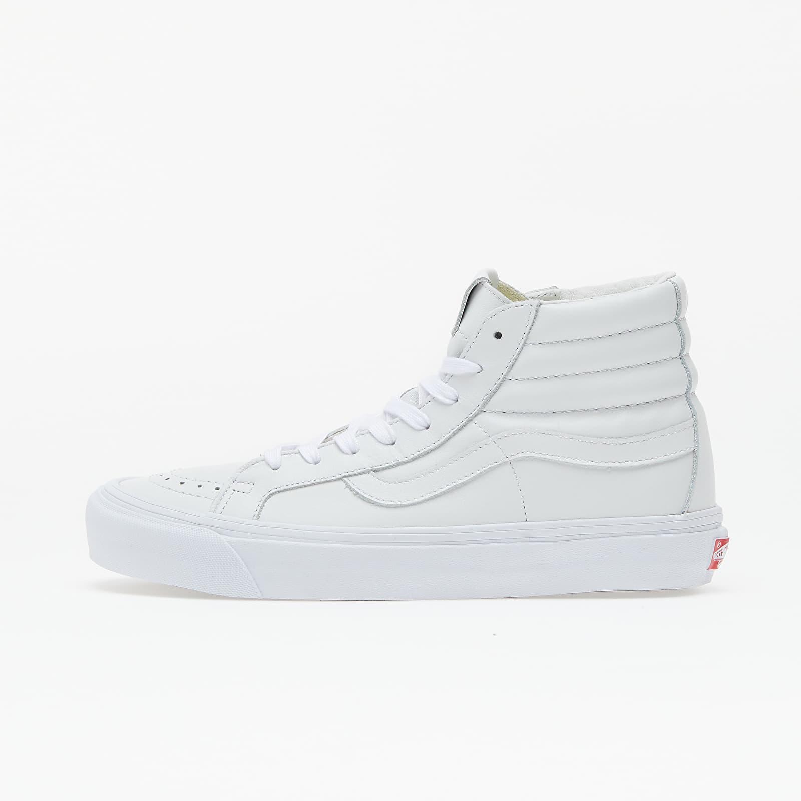 Încălțăminte și sneakerși pentru bărbați Vans OG Sk8-Hi LX Vault White