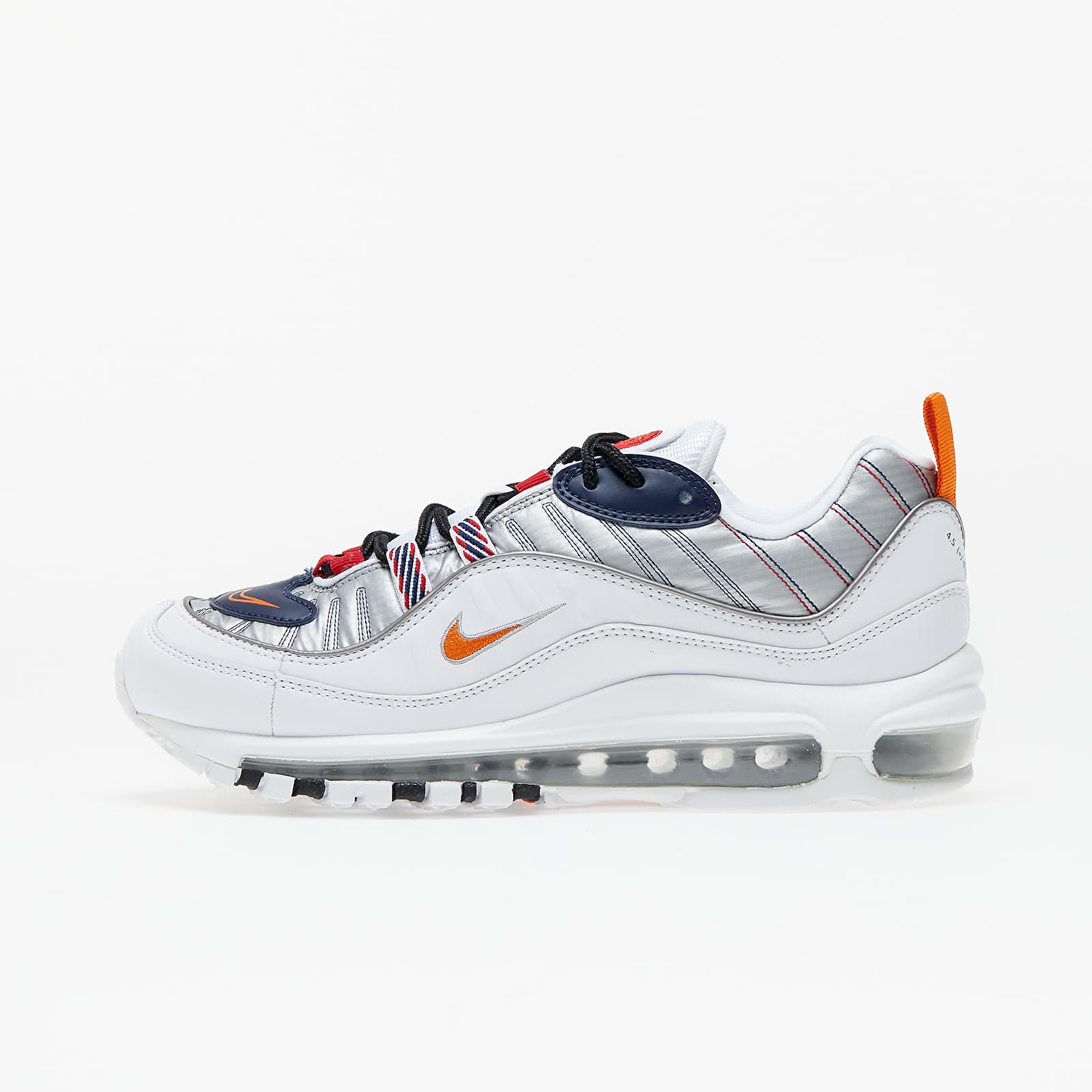 Nike W Air Max 98 Premium White/ Starfish-Wolf Grey-Gym Red   Footshop