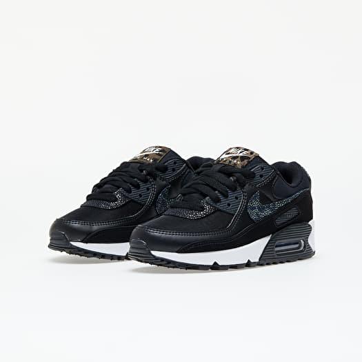 Women's shoes Nike W Air Max 90 SE Black/ Black-Off Noir-White ...