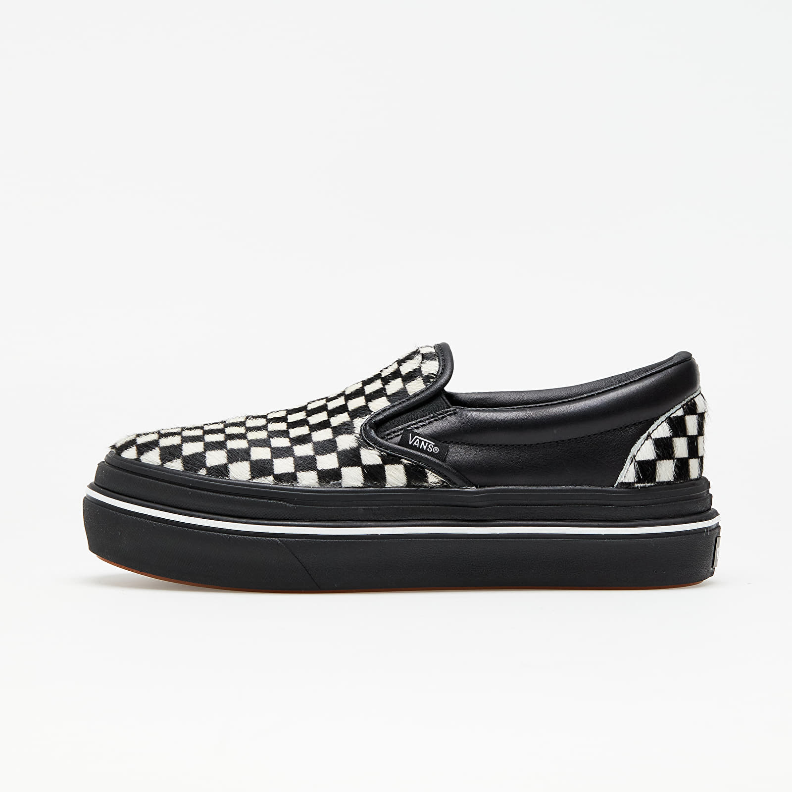Vans Super ComfyCush Slip-On (Fury) Black/ White EUR 38
