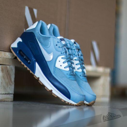 Nike Wmns Air Max 90 Essential Blue Grey Pure Platinum Lyl Blue Summit White | Footshop