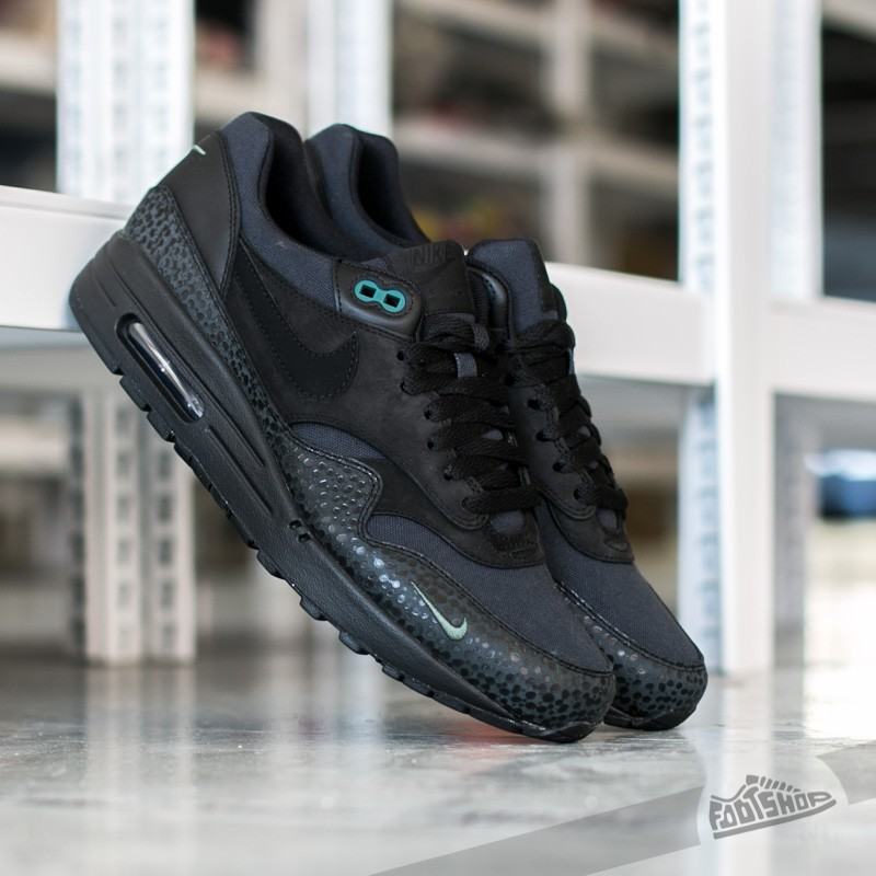 the latest d338c a588c Nike Air Max 1 Premium Miniswoosh Black  Black-Bonsai