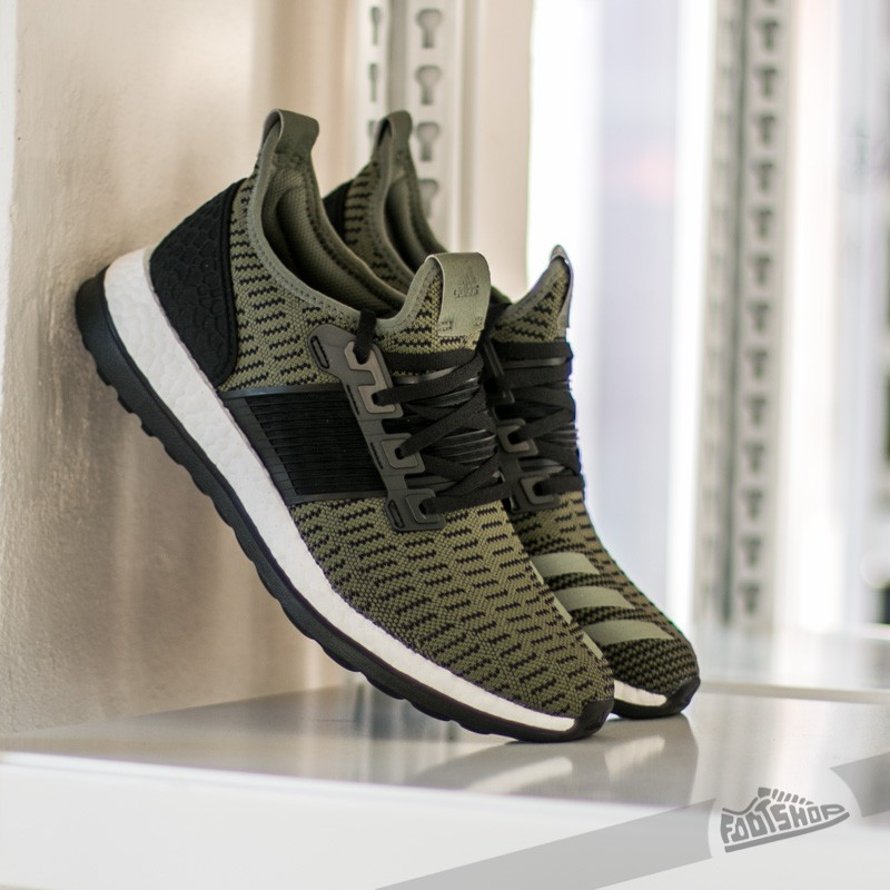 2817247deed24 adidas Pure Boost ZG Prime Base Green S15 Core Black Vivid Red ...