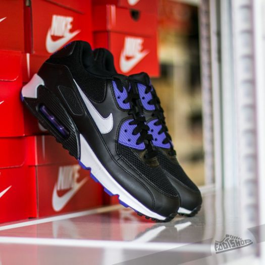 Nike Air Max 90 Essential Black White Persian Violet | Footshop