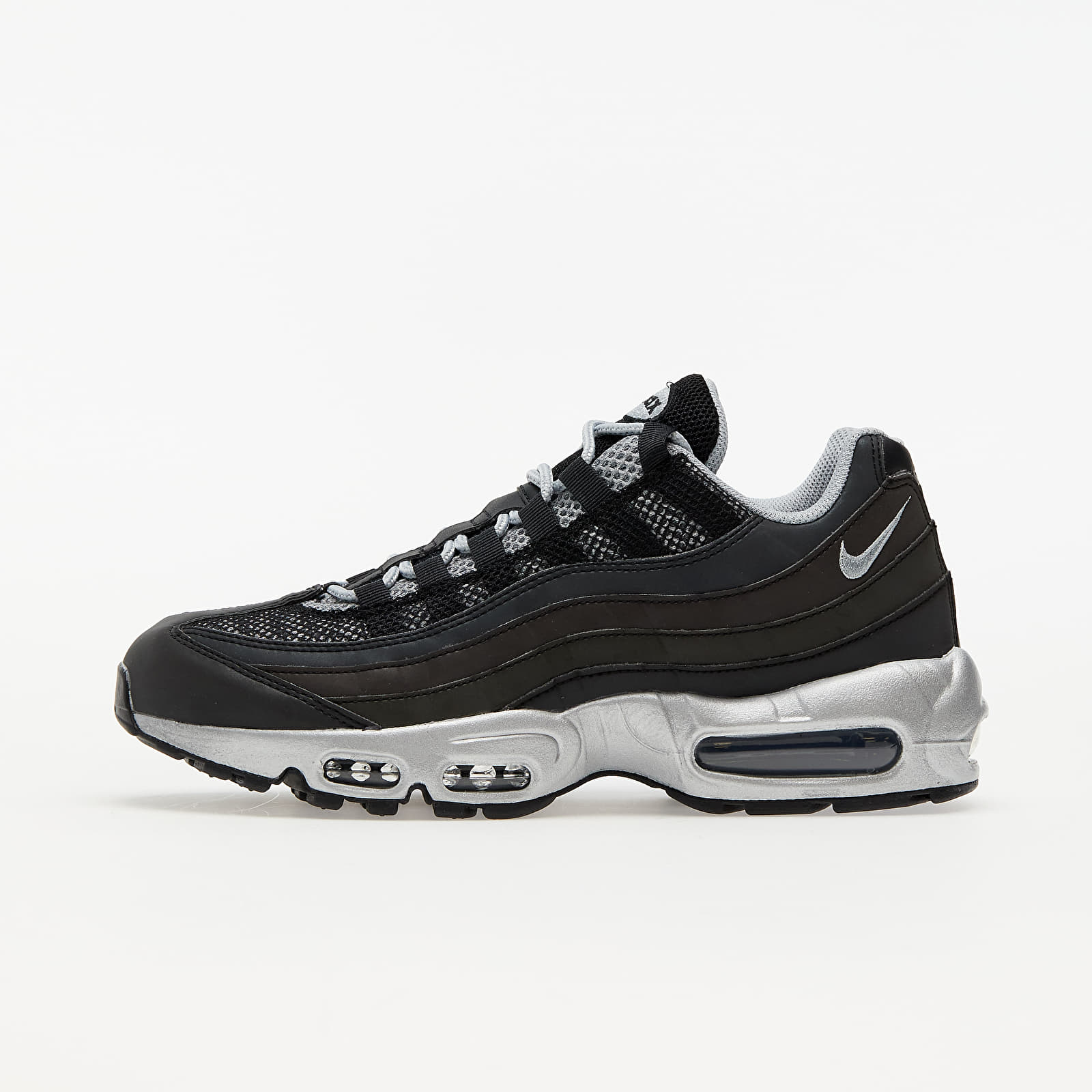 Nike Air Max 95 Premium Black/ Metallic Silver-Game Royal EUR 45