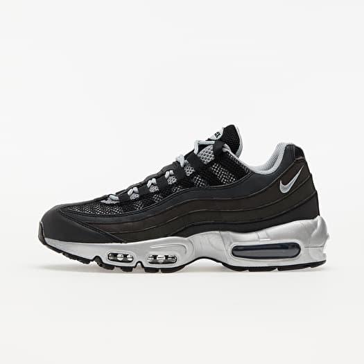 Nike Air Max 95 Premium Black/ Metallic Silver-Game Royal | Footshop