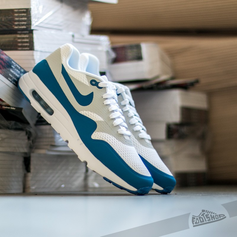 e1875f2fdbc Nike Air Max 1 Ultra Essential White  Pure Platinum- Varsity Blue ...