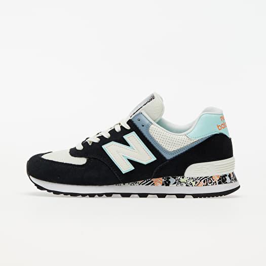New Balance 574 Black/ Blue/ White | Footshop