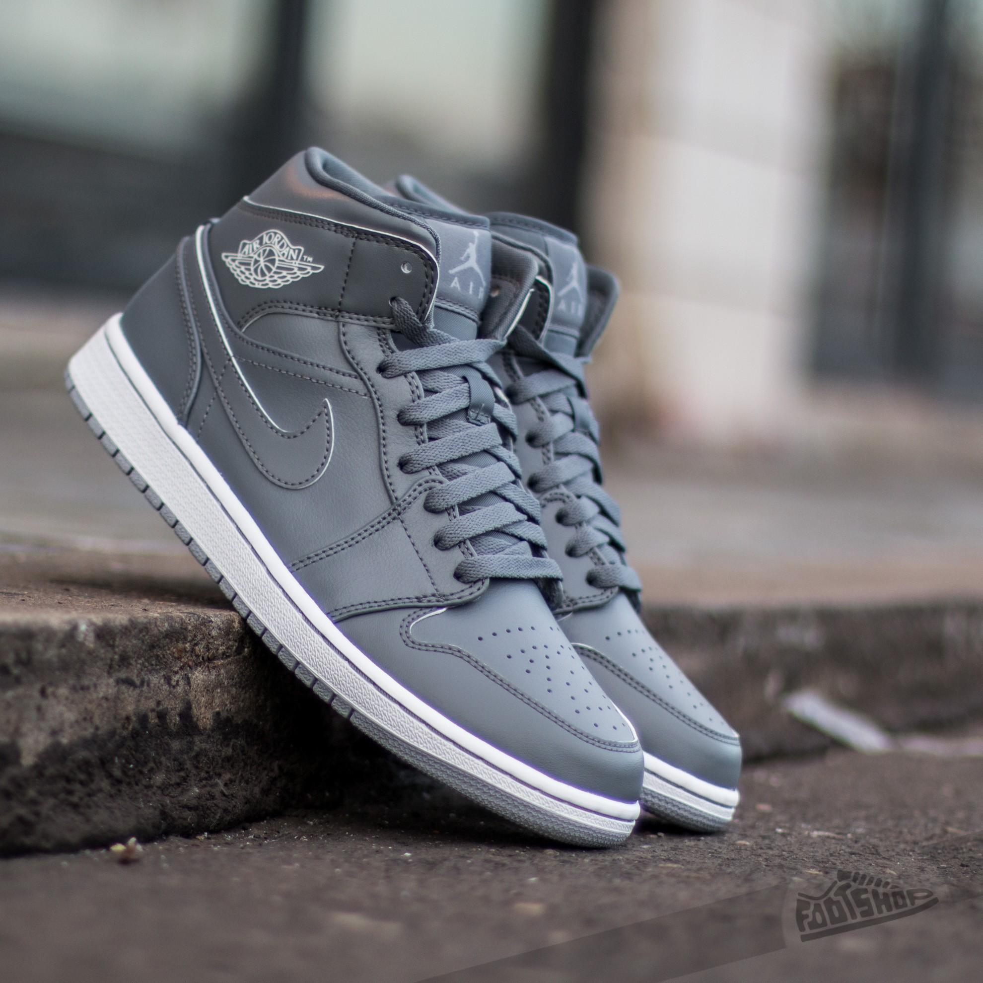 b6f860adc945 Air Jordan 1 Mid (BG) Cool Grey  White-Wolf Grey