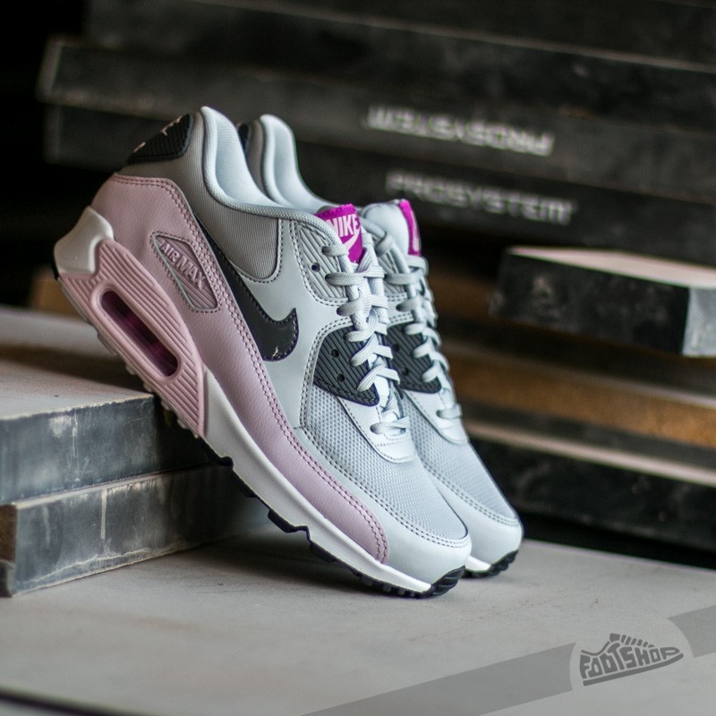 48e272120a80 Nike Wmns Air Max 90 Essential. Pure Platinum  Dark Grey- Bleached Lilac