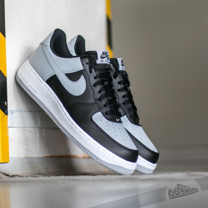2ec14015391c Nike Air Force 1 Black  Wolf Grey - White