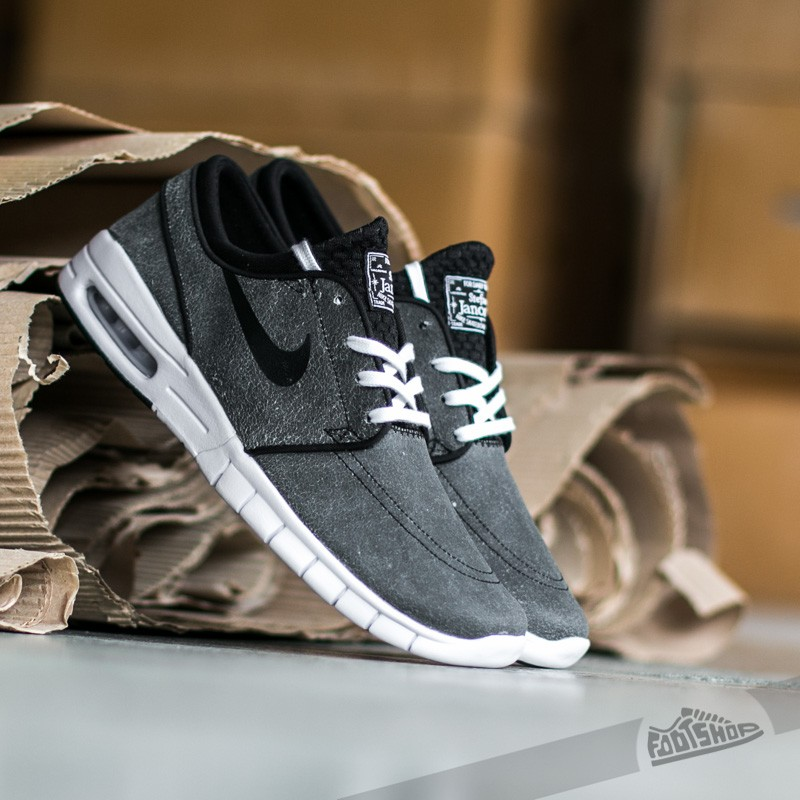 newest 1ccca ae4b3 Nike Stefan Janoski Max L Premium Black  Black White - Wolf Grey