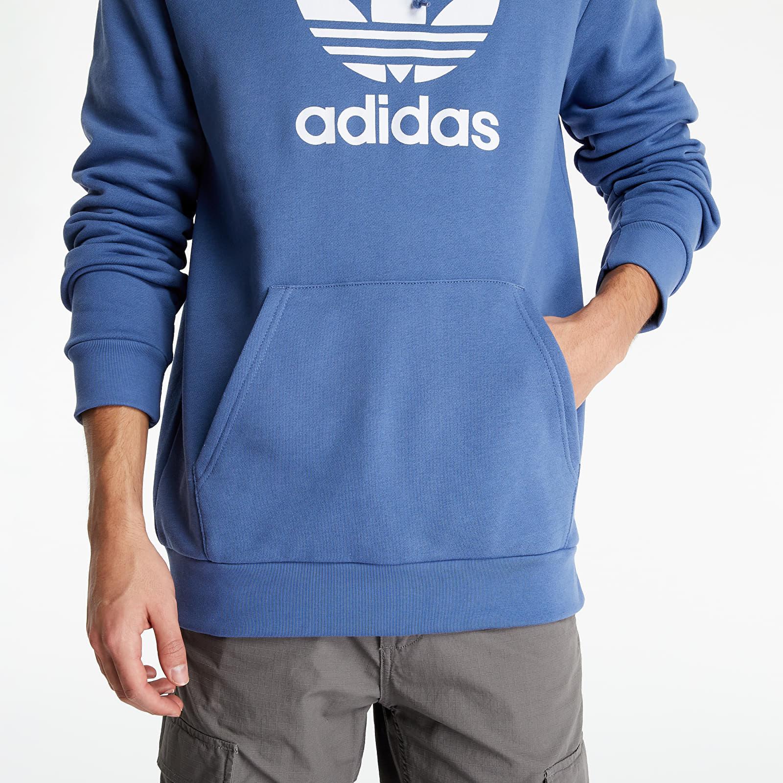 adidas Trefoil Warm-Up Hoodie Crew Blue EUR S