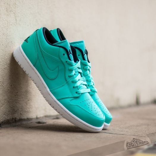 Air Jordan 1 Low Hyper Turquoise  Black White  84b9df6310