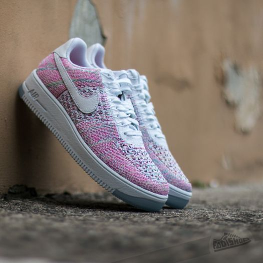 Nike Air Force 1 Flyknit Low White White Radiant Emerald | Footshop
