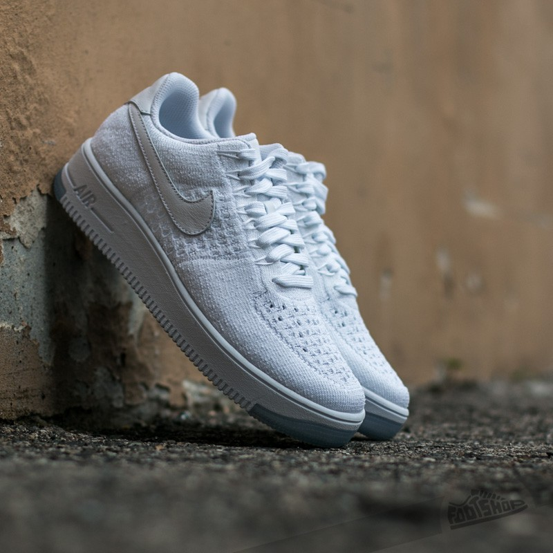 3f74745ec7be4a Nike W Air Force 1 Flyknit Low White  White