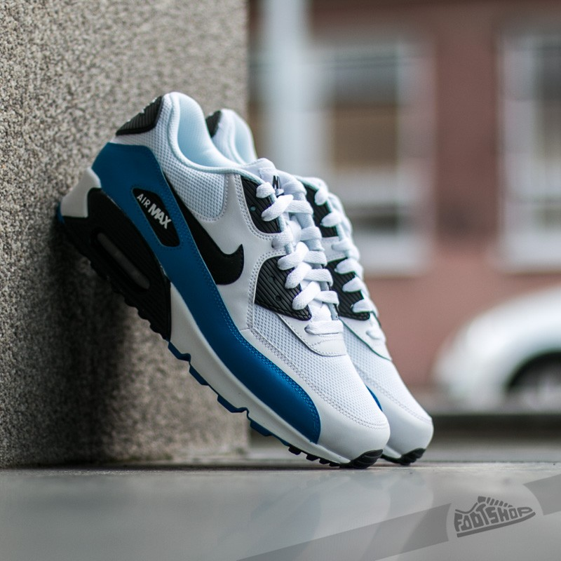 check out 99530 80691 Nike Air Max 90 Essential White  Black-Photo Blue-Black