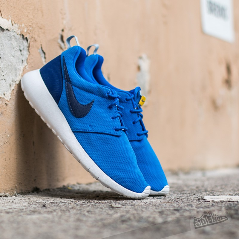 412d3d5aab1a Nike Roshe One (GS). Hyper Cobalt  Deep Royal Blue Varsity Maize-Blue