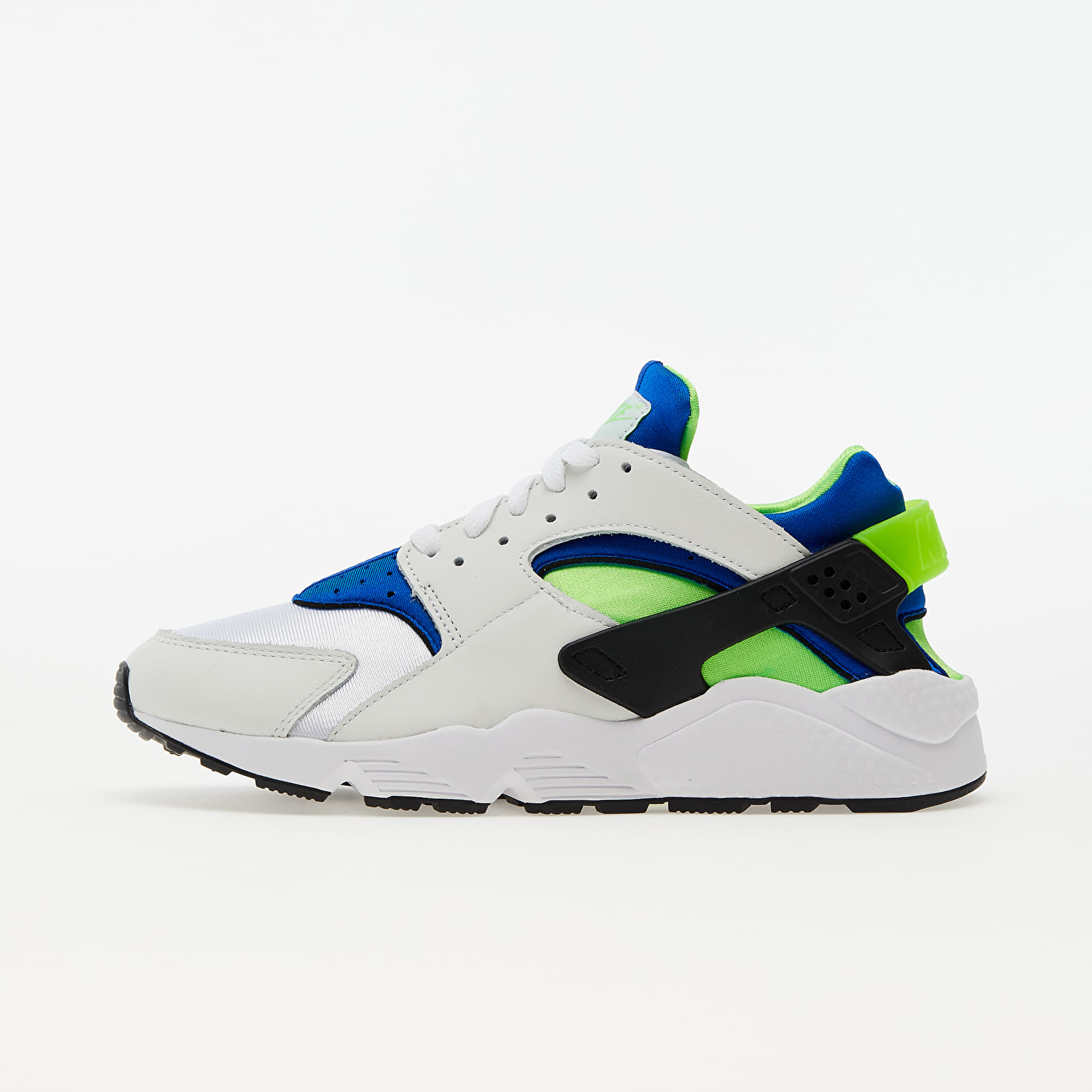Nike Air Huarache White/ Scream Green-Royal Blue-Black EUR 45