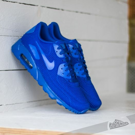 Nike Air Max 90 Ultra Essential Black Racer Blue Mens