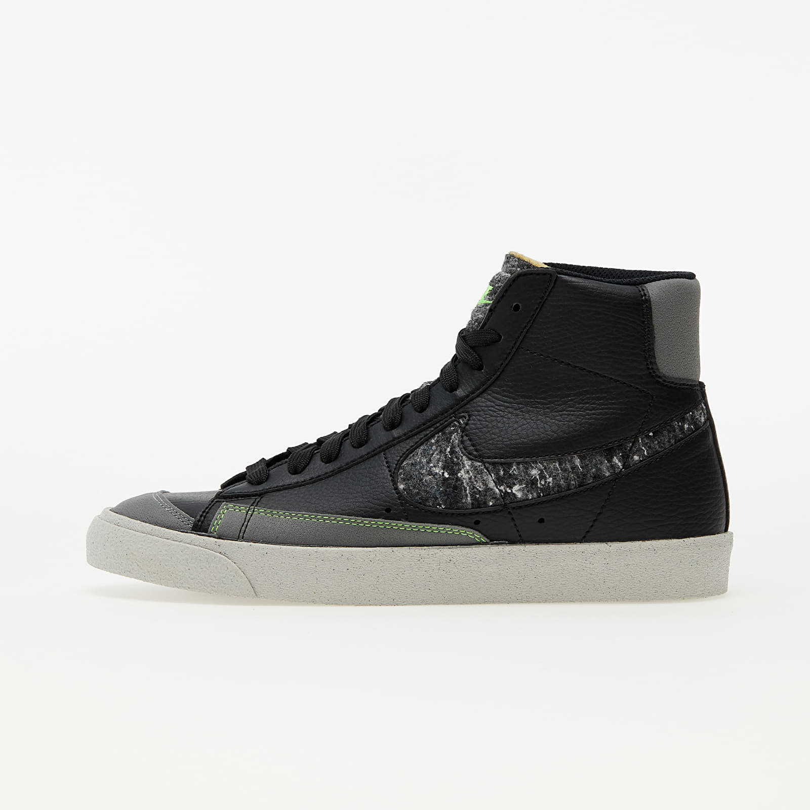 Nike Blazer Mid '77 Vintage Black/ Smoke Grey-Electric Green EUR 44.5