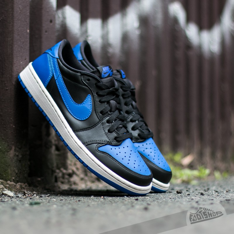 84796babca8 Air Jordan 1 Retro Low OG Black/ Varsity Royal-Sail | Footshop